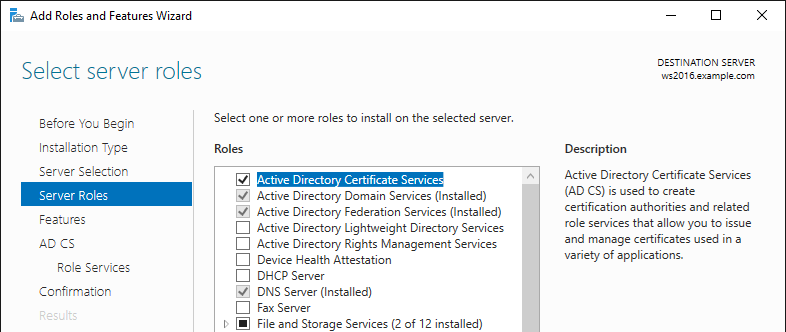 Certificates in a Microsoft Windows Environment